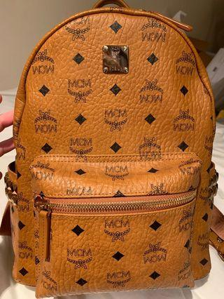 MCM cognac small backpack