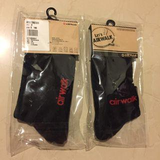 Air walk 黑色襪子(全新)