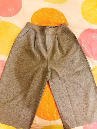 氣質灰色七分寬褲
