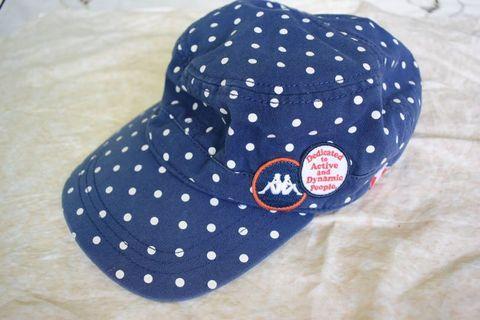 【Kappa】深藍潑點鴨舌平頂帽