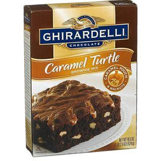 Ghirardelli Chocolate Caramel Turtle Brownie Mix 18.5 oz, Pack of 2