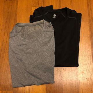 H&M Sports 2 pack (Size L/M) - Black and Grey