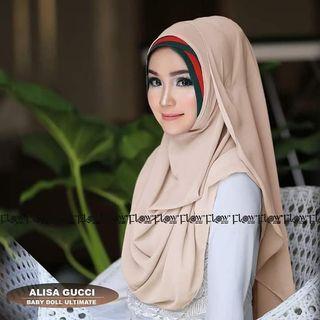 Hijab Instan jilbab kerudung bergo scarf Khimar alisa