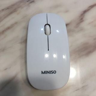 MINISO無線滑鼠 白色 保存良好