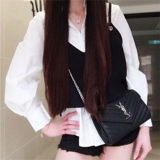 白色襯衫背心套裝