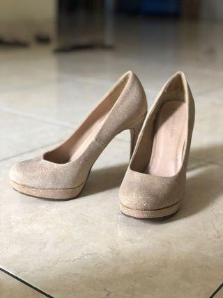New look heels nude