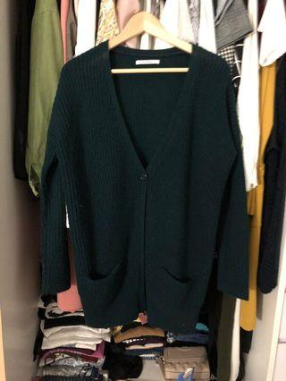 Pull & bear knit green cardigan