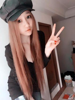 皮質報童帽 黑色