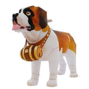 (紙模型的部屋)圣伯纳犬