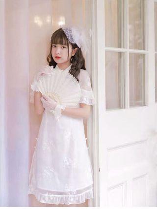 原創森女部落中國風旗袍改良洋裝連衣裙
