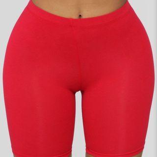 Fashionnova red biker shorts