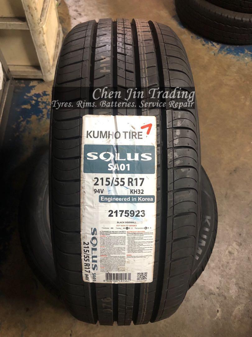 4pcs 215/55/17 Kumho Solus SA01 KH32 Car tyre