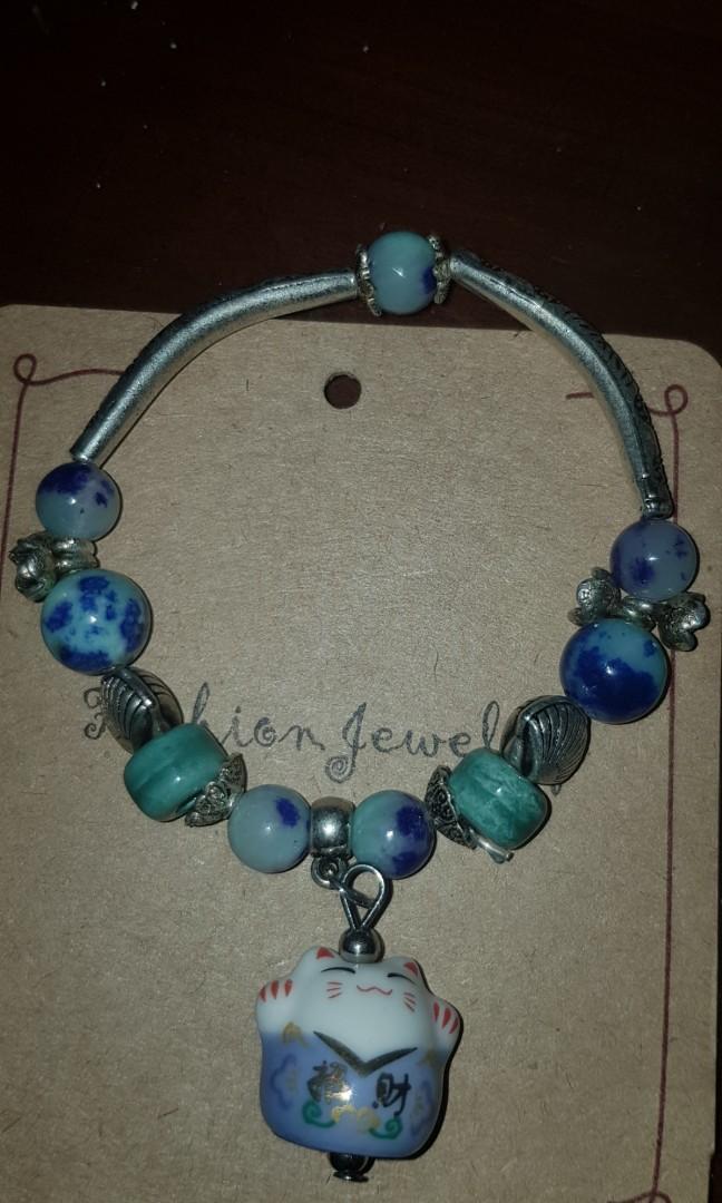 藍色貓咪手環