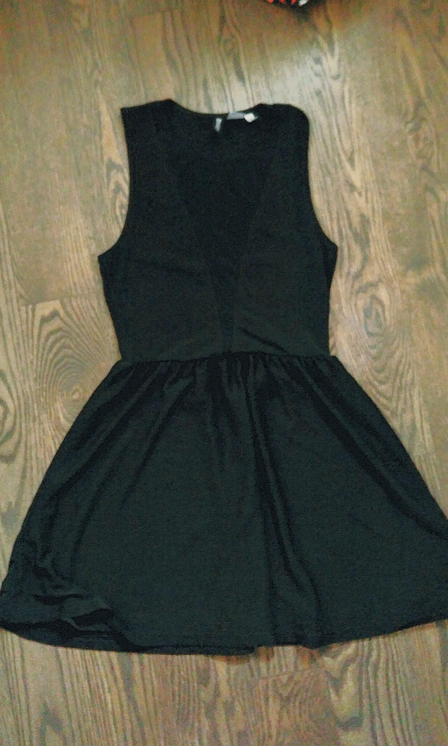 Black dress with mesh details from H&M