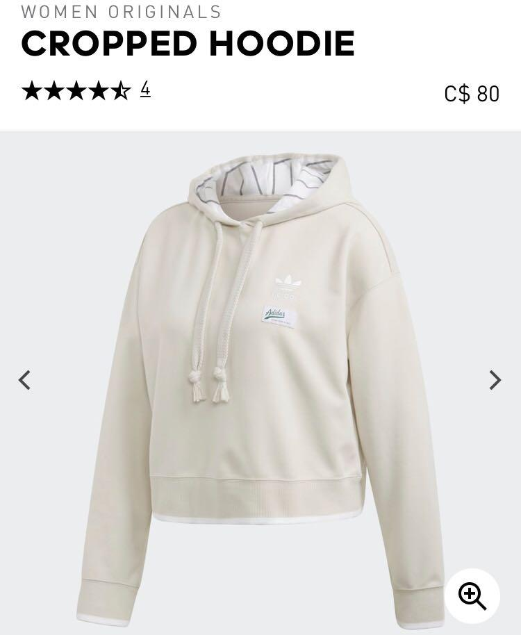 BRAND NEW WITH TAGS adidas white hoodie (slightly cropped)