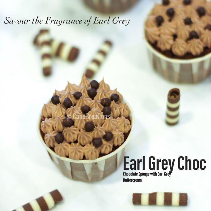 Earl Grey Chocolate Cupcake