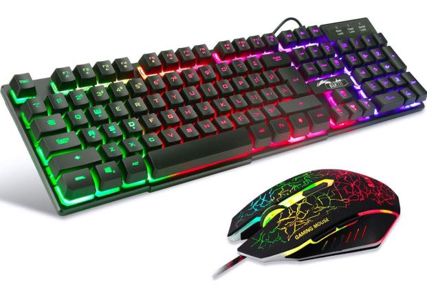 Gaming Keyboard And Mouse Sets Bakth 3 Cool Colors Led Backlit Wired Usb Keyboard And Mouse Combo For Pc Computer Games Including Durable Mouse Mat Electronics Computer Parts Accessories On Carousell