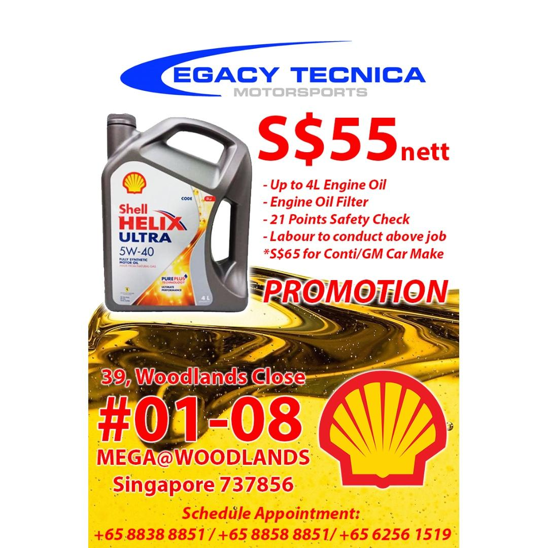 General Servicing with SHELL HELIX ULTRA 5W40