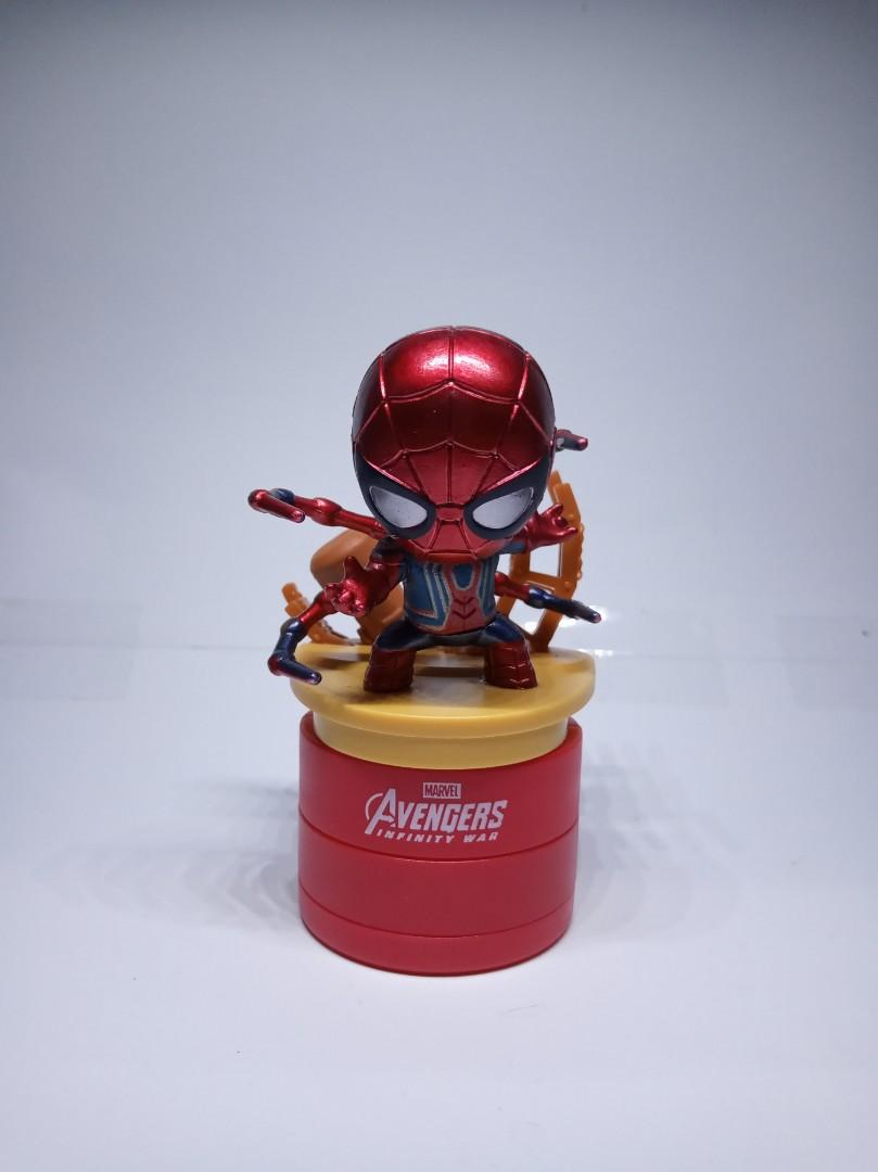 iron spiderman tesco avenger stamped