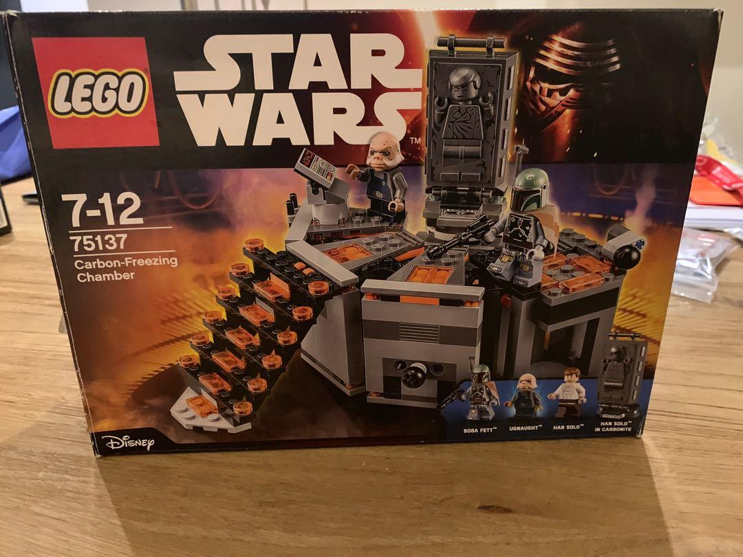 NEW Lego Star Wars HAN SOLO figure /& in carbonite Carbon-Freezing Chamber 75137