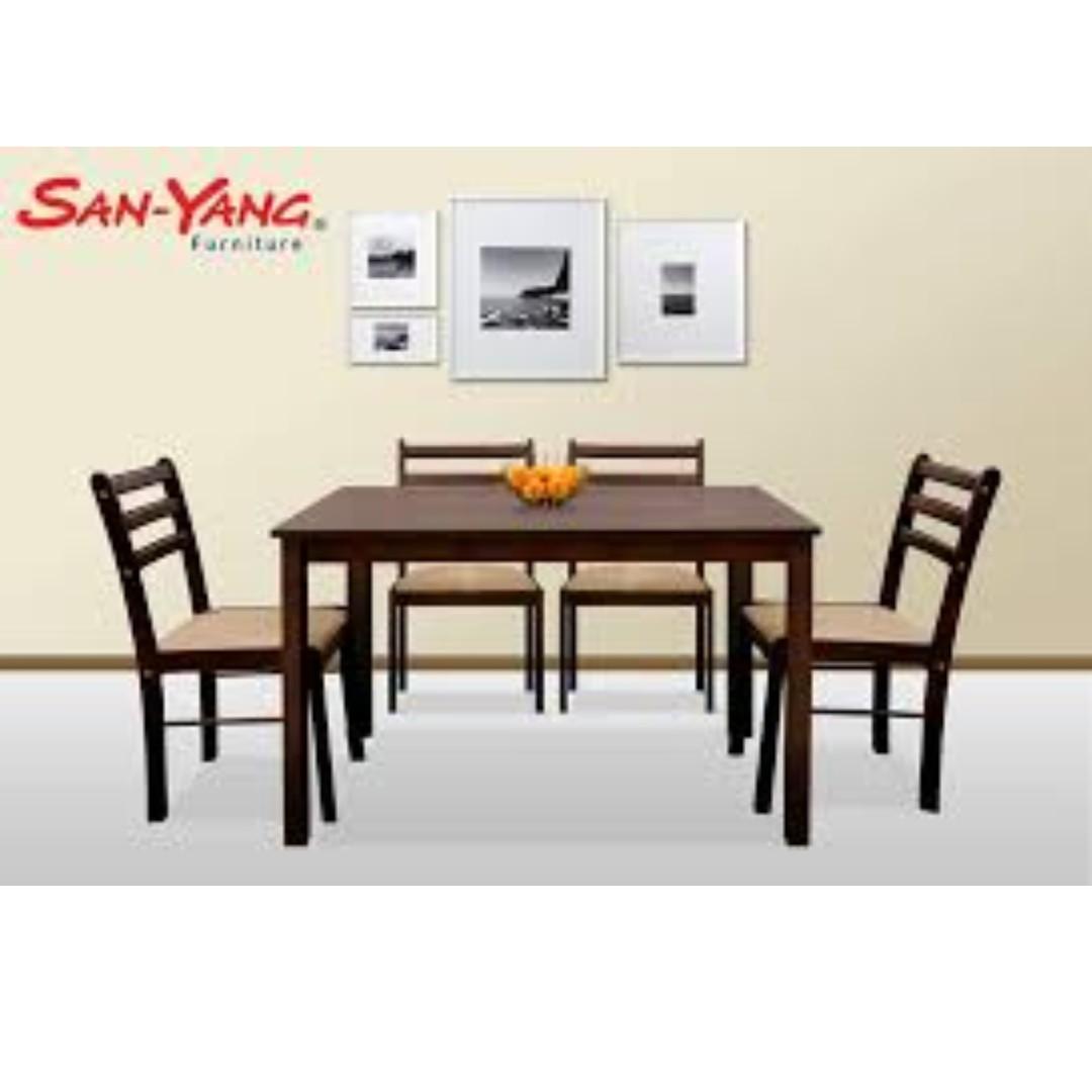 New San Yang 6 Seater Dining Set Dark