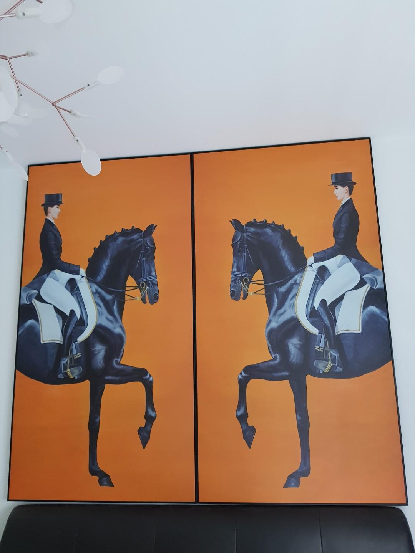Orange Hermes Horse Painting Design Craft Art Prints On Carousell