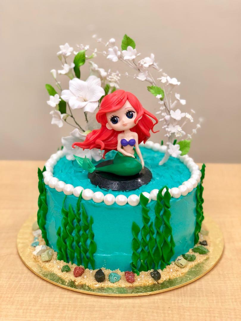 Brilliant Princess Ariel Birthday Cake Food Drinks Baked Goods On Carousell Funny Birthday Cards Online Alyptdamsfinfo