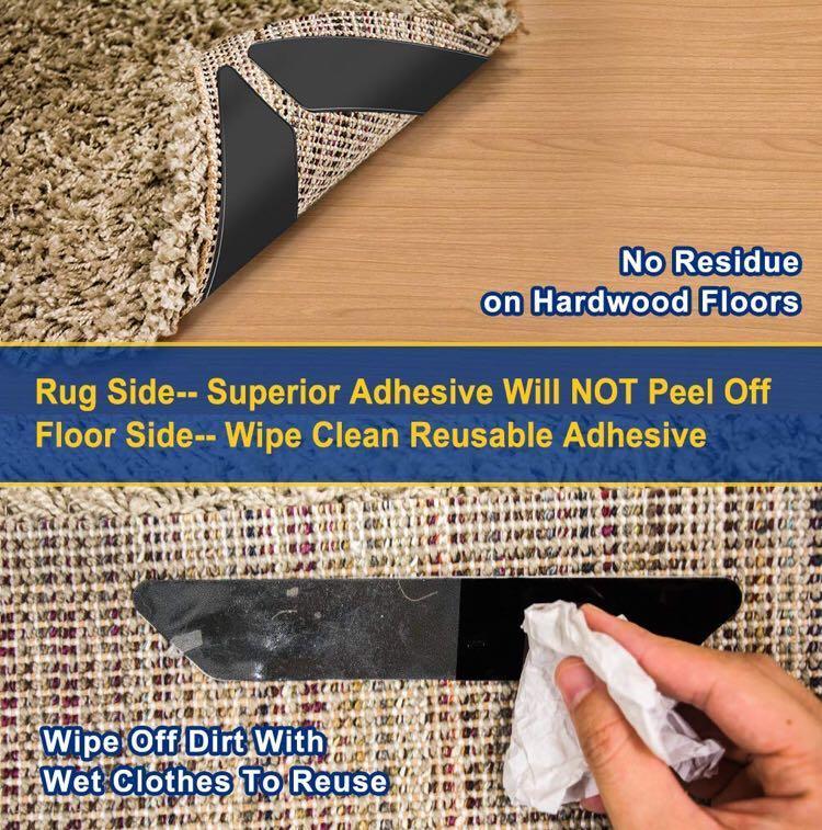 Curling Rug Gripper for Wooden Floors