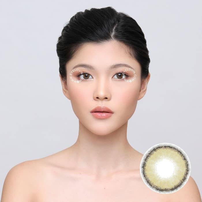 softlense korea idol rose beige (eyelovin ori100%)