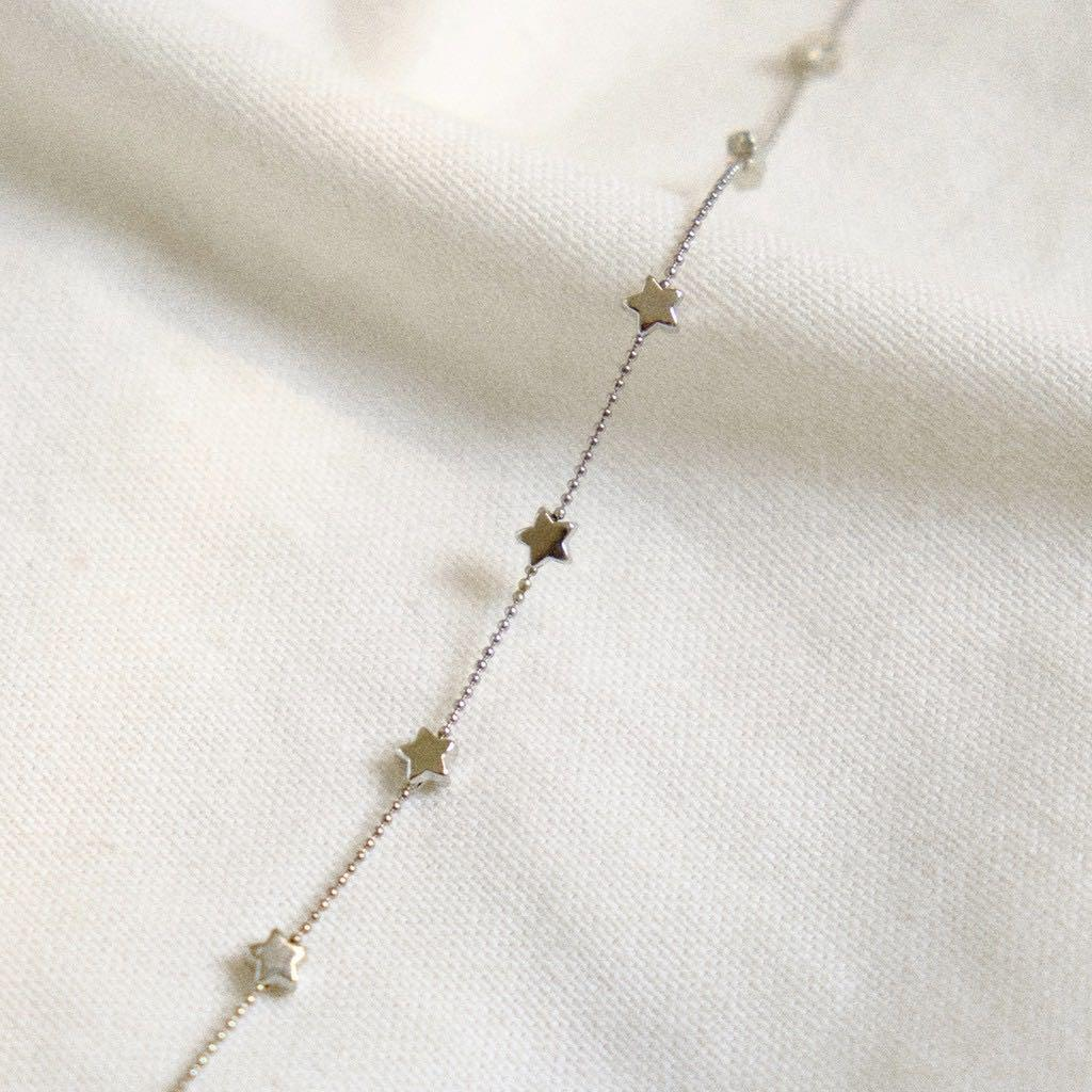 stars silver choker / necklaces