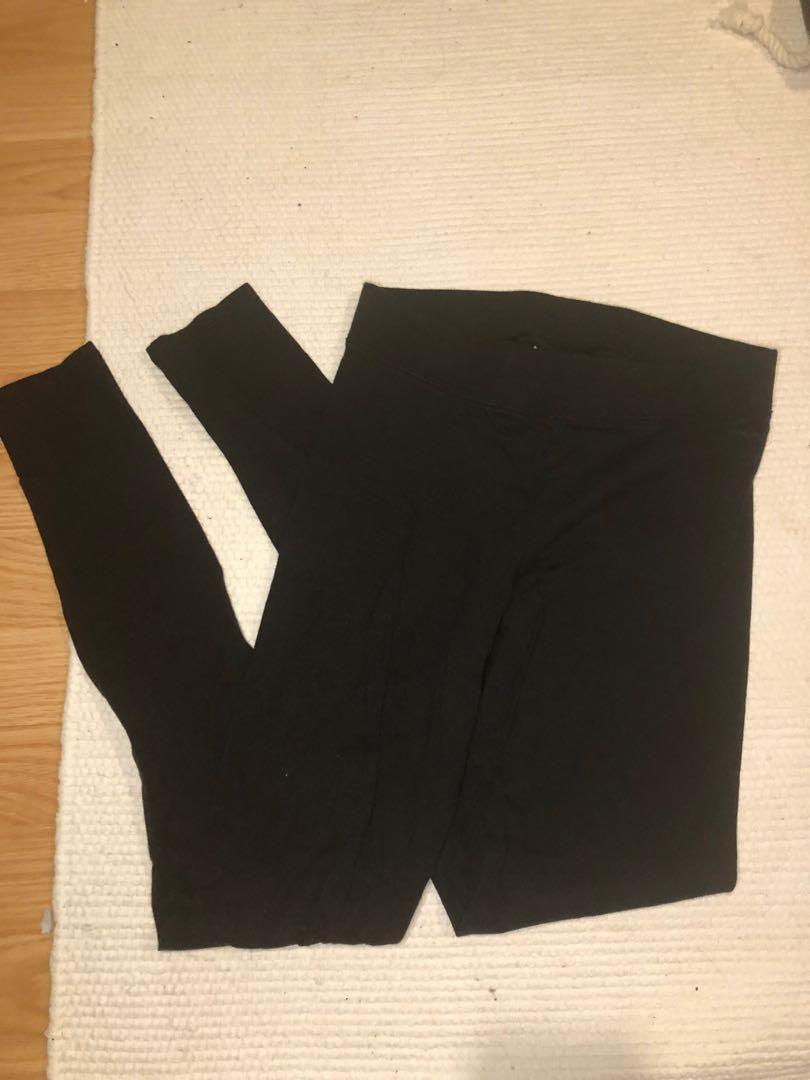 Victoria's Secret PINK black cotton leggings size xs