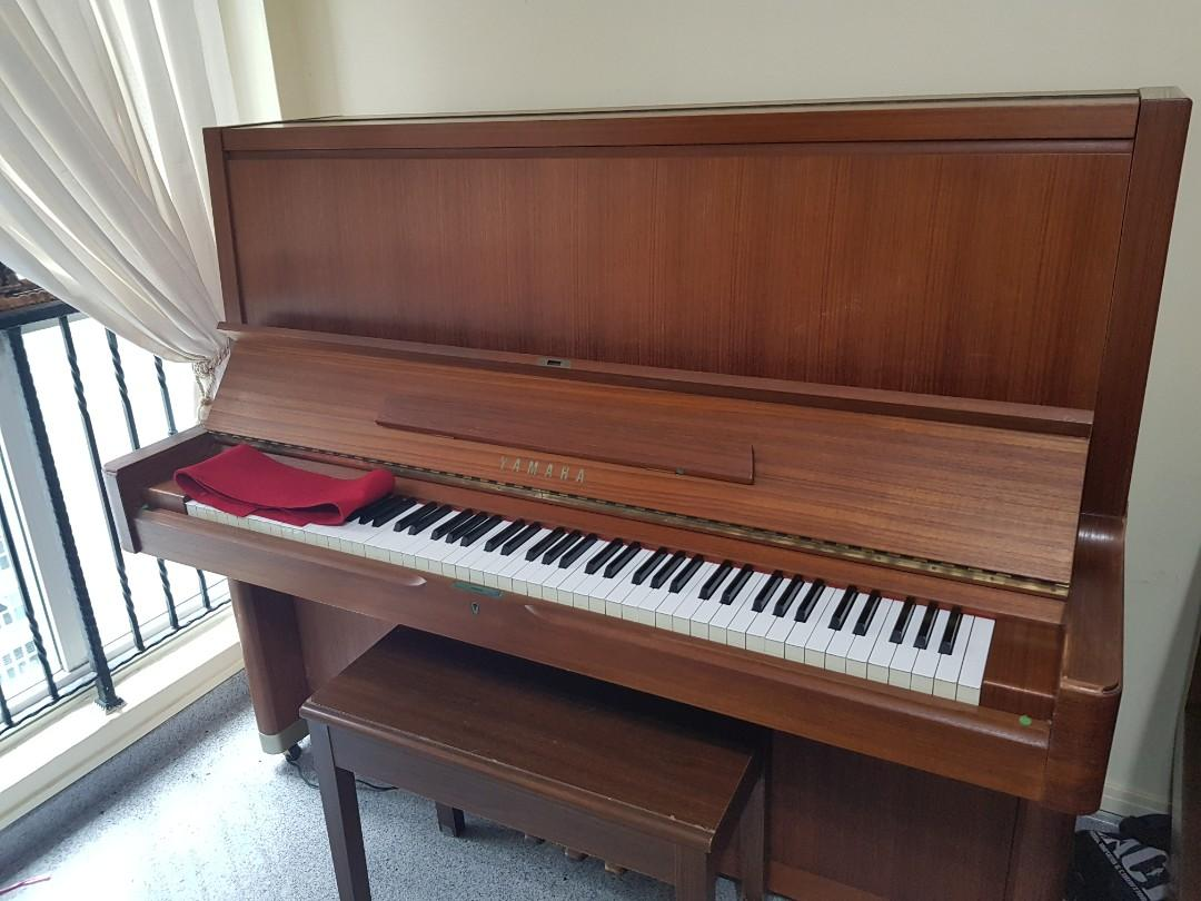 Yamaha U7 Teak Upright Piano
