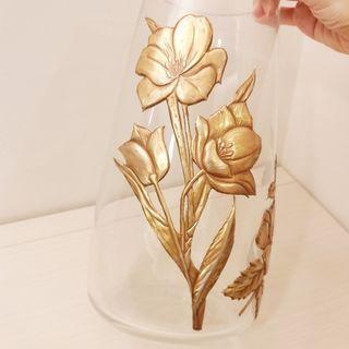 [文創小物~純手工~] 金屬押花鏤空花朵造型花瓶