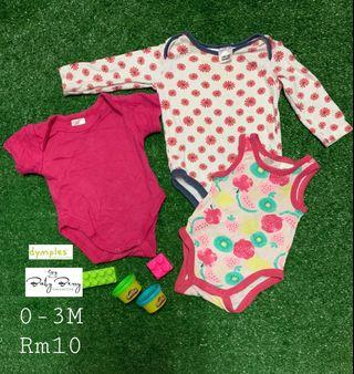 Cute Pink Rompers for 0-3M baby