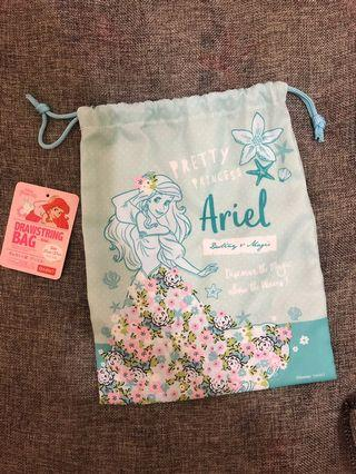 日本大創代購 小美人魚束口袋 萬用袋