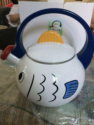 琺瑯茶壺 魚造型茶壺