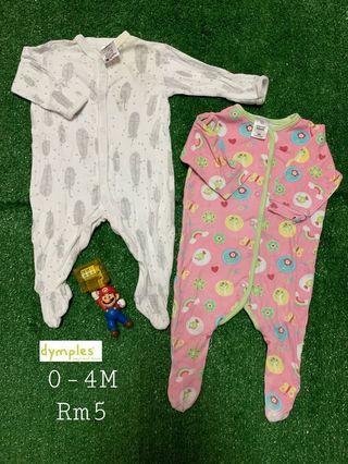 0-4M sleepsuit baby girl