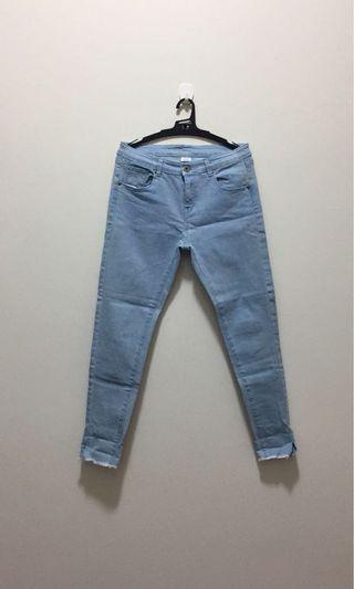 Pazzo淺藍色合身牛仔褲