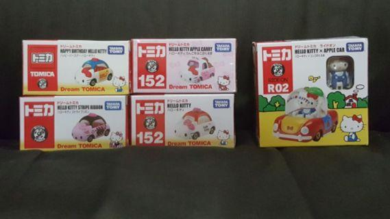 HELLO KITTY TOMICA Set Of 5