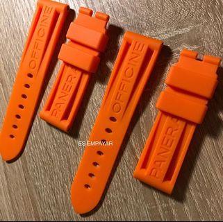 Officine Panerai Orange Rubber Strap