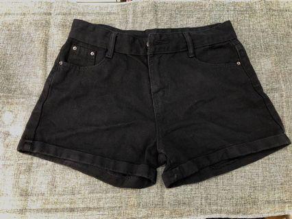 全新29腰 黑色短褲
