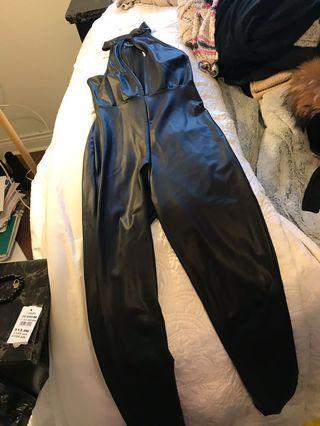 Forever 21 Black Halter Jumpsuit