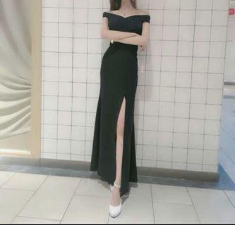 Elegant Maxi Dinner Dress Dinner Grown (Rent)