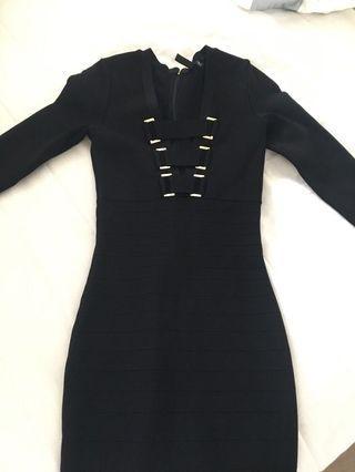 Marciano Bandage Dress Black