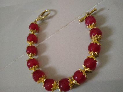 Red Necklace / Gelang batu merah