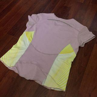 Nike pastel pink and yellow light jersey top