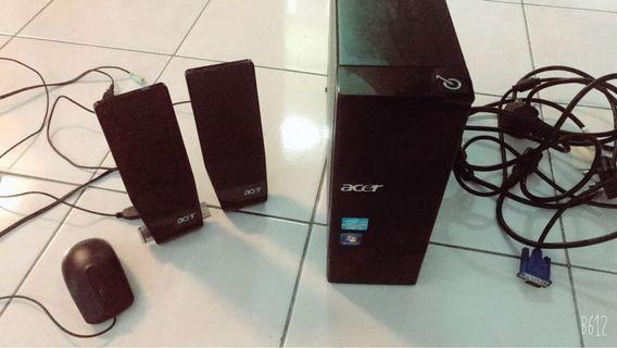 Acer CPU, speakers and mouse