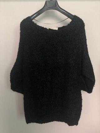Zara black knitted top