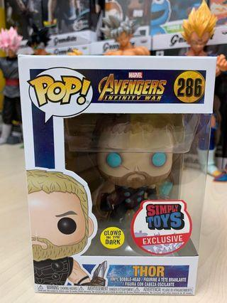 Avengers Infinity War GITD Thor Simply Toys exclusive
