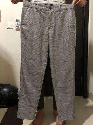 Bershka men plaid trousers